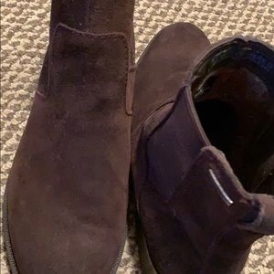 Rockport Suede Boots, Brown, 8W Hydro-Shield